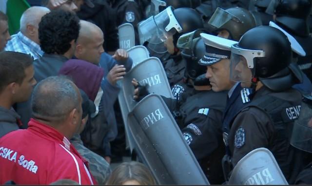 Раднево протест сблъсък